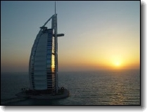 The Burj Al-Arab Hotel in Duba